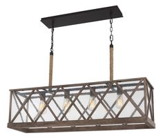 Feiss Lumiere 4-Light Dark Weathered Oak and Oil Rubbed Bronze Pendant Chandelier. Get dramatic and stylish lighting with the Lumiere collection, featuring textural seeded glass, visible bulbs and a variety of fine finishes to suit any room.