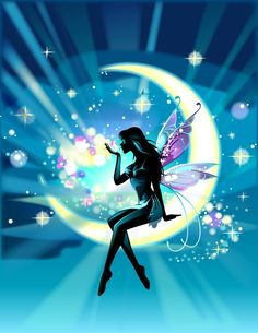 Moon+Fairy+Silhouette+Clip+Art | What a joyous feeling. I feel as if I am hanging out on a moon beam ...