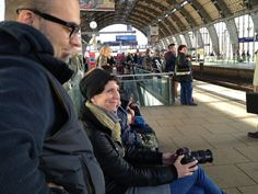 "#ImprovFilmProject | #Berlin | Day 2 of the shoot at Alexanderplatz | left: director Xavier Agudo, right: ""A-Camera"" Juliane Block"