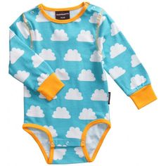 Maxomorra Clouds Bodysuit for Babies. Cara thinks this #maxomorra babygrow is just adorable!