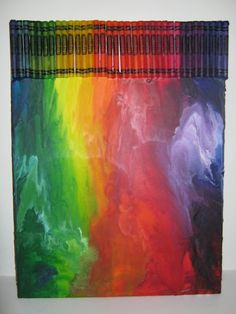 How to get the misty effect vs the drippy effect in crayon art