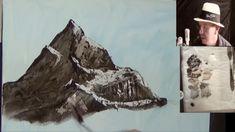 Bob Ross , Style Mountain , Jason Bowen Collaboration  Acrylic Painting ...