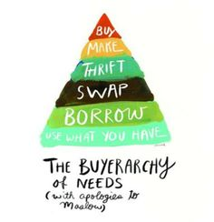 The buyerarchy of needs: How to thrive on less