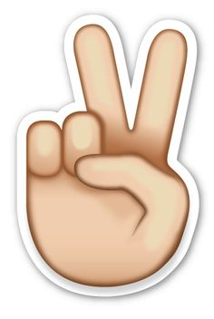 Victory Hand | Emoji Stickers