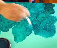 DIY Faux Malachite by Jenny Komenda