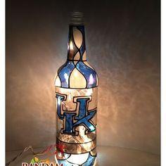 Hand painted light bottle - kentucky