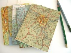 Vintage map travel cards  Battle lake and alexandria cards