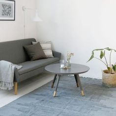 Teppich Grau 160x230cm House Doctor