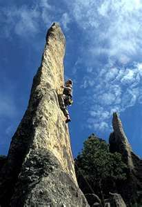 Climbing the Needles, Black Hills