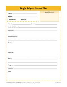 6 point lesson plan template - printable lesson plan template in pdf format dream