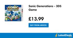 Sonic Generations - 3DS Game, £13.99 at Argos