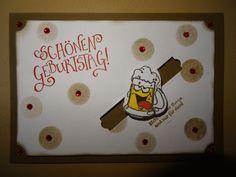 Karte Geburtstag Stampin up Geburtstagskarte Männer Kullerkarte Bier Bierglas