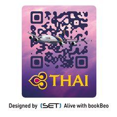 QR Code bookBeo designé par SET pour la compagnie THAI Airways Thai Airways, Qr Codes, Coding, Airbus A380, Phone Cases, App, Design, Apps, Design Comics