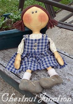 Jennie ePattern  primitive country doll by chestnutjunction, $3.99
