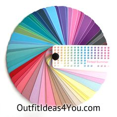 """This gorgeous color fan has 60 colors from the light summer color palette. Folds up into a perfect size for carrying in your purse for shopping: 2.25"""" x 1"""" x 1"""" Each color in the fan has on the back: Color: the name of the color Temperature: Warm, Cool or Neutral Wardrobe"""