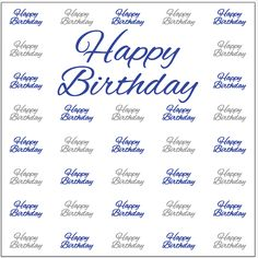 Happy Birthday Step Repeat Banner 6791