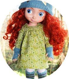 Mekkotehdas: Free Pattern Doll dress [Disney animators collection]