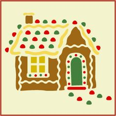 Gingerbread House Stencil