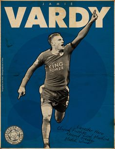 Football Posters - Leicester City - Vardy