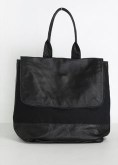 Clyde Canvas / Leather Backpack (Black)