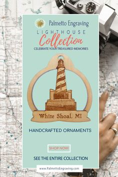 Looking For A Perfect White Shoal Lighthouse Souvenir? This Handmade White Shoal Lighthouse Ornament Is Perfect Addition To Your Decor Made In The Usa - Like This? Get A Discount Code Here: . Unique Christmas Gifts, Christmas Gift Guide, Rustic Christmas, Holiday Gifts, Christmas Decor, Hygge Home Interiors, Beach Christmas Trees, Secret Santa Gift Exchange, Rustic Wood Decor