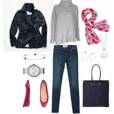 """Pink Accents"" by bluehydrangea on Polyvore"