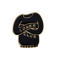 LONER CLUB Enamel Pin - Introvert, Loner, Sweater, Handmade, Vintage, Lapel Pin, Rare, Jacket, Cool, Boyfriend,, Christmas Gifts by VinylLoversUnite on Etsy