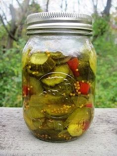 Sweet and Spicy Pickles...recipe I used last year, with my own modifications ;)