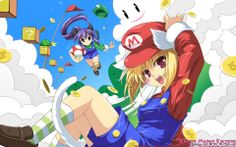Super Mario Sisters japanese anime HD Wallpaper - http://www.hdwallpaperuniverse.com/super-mario-sisters-japanese-anime-hd-wallpaper/