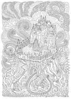 Image result for Mushroom Town coloring book