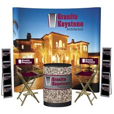 Customized Executive Deluxe Total Show Package #displays #branding #displaypackages #marketing | Promotional Trade Show Total Packages | Branded Trade Show Products