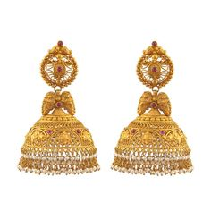 ❋ Exquisite Antique style Jimmiki #Earrings by @PrinceJewelery http://www.PrinceJewellery.com/ ❋ Chennai & across South India