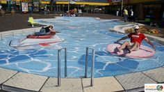 ✯ Swimming Pool by Planet Street Painting - 3D Chalk Art