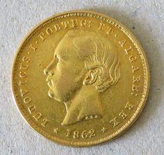 Atualmente nos leilões da #Catawiki: Portugal  Monarquia - D. Luís I - ( 1861-1889 ) - 5000 Reis - 1862 - Ouro