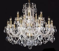 Chandelier crystals - If you've noticed that one or more of the crystal chandelier drops then lost you should know that it can be easily replaced. Hanging Lights, Rustic Light Fixtures, Chandelier Lamp, Chandelier Lighting, Crystal Chandelier, Crystal Decor, Beautiful Lighting, Light, Chandelier