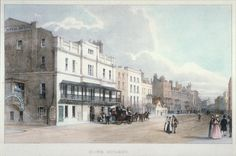 Cheltenham High Street by George Rowe.  c. 1840