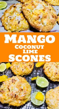 A very Summery combination with sweetened mango, shredded coconut and tangy lime in a buttery scone. Breakfast Dessert, Breakfast Recipes, Dessert Recipes, Breakfast Scones, Baking Recipes, Bread Recipes, Scone Recipes, Quick Recipes, Mango Cake