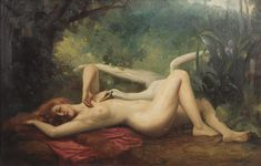 (leda swan 0673) Leda and the Swan 1910, by C.A. Holland