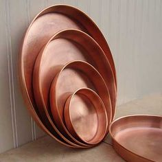 Color Inspiration Are these copper backing pans?