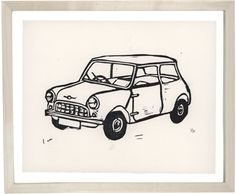 John Derian Company Inc: Classic Mini Cooper Mini Cooper Classic, Classic Mini, Hugo Guinness, What To Draw, India Ink, Good Good Father, Ink Art, Watercolor Art, Whimsical