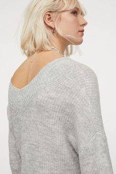 V-Pullover aus Wollmischung - Hellgraumeliert - Ladies | H&M DE 3