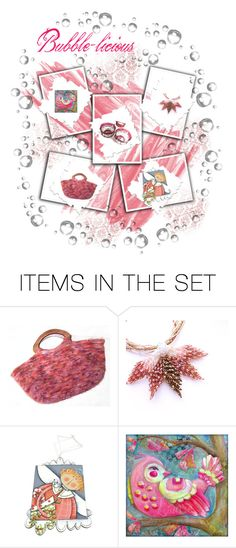 """""""Bubble-licious"""" by tol-n-tique ❤ liked on Polyvore featuring art"""