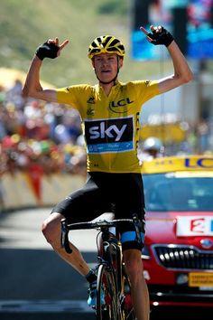 Chris Froome (Team Sky) wins on La Pierre-Saint-Martin (Getty Images Sport)