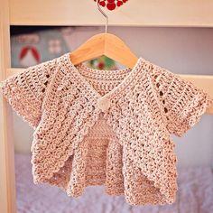 (4) Name: 'Crocheting : Flutter Sleeve Shrug