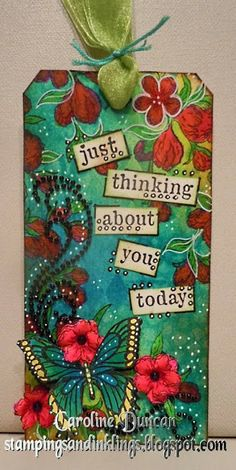Heartfelt Creations and Dylusions Tag by Caroline Duncan ~ www.stampingsandinklings.blogspot.com