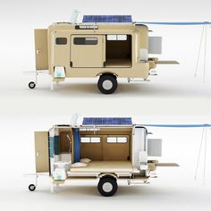 56 Best Cool Caravans, Camper Vans (RVS) Ideas for Traavel Trailers Teardrop Camper, Tiny Camper, Teardrop Trailer, Diy Camper Trailer, Camper Caravan, Camper Van, Camping Trailer Diy, Small Trailer, Tiny Trailers