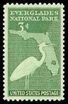 1947 3c Everglades Park Dedication Scott 952 Mint F/VF NH  www.saratogatrading.com