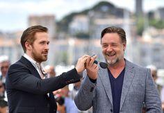 Pin for Later: Die besten Schnappschüsse vom Filmfest in Cannes Ryan Gosling und Russell Crowe