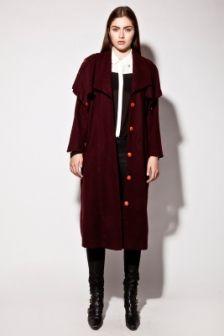 Vintage 80s Burgundy Wool Coat http://thriftedandmodern.com/vintage-80s-burgundy-wool-coat