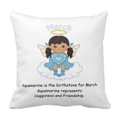 March Birthstone Angel Black Pillow  http://www.zazzle.com/march_birthstone_angel_black_pillow-189137698827296212?rf=238631258595245556